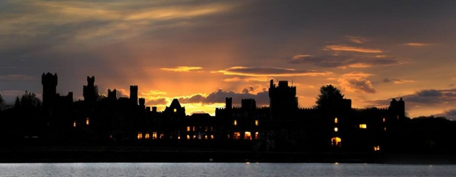 Ashford Castle at sunset (Photo: Ceri Jones)